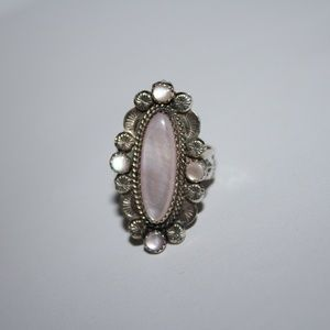 Stunning Mother of pearl sterling ring R. Chavez